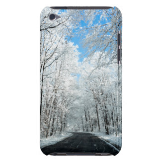 Snowy Winter Road Scene iPod Touch Case