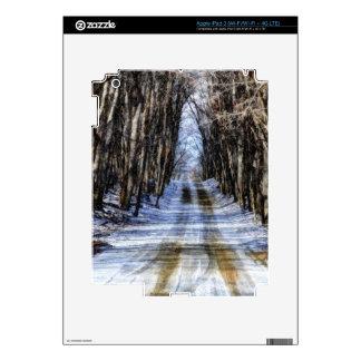 Snowy Winter Road iPad 3 Decals