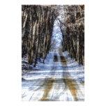 Snowy Winter Road Stationery