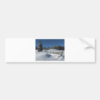 Snowy Winter Scene Bumper Sticker