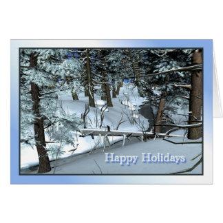 Snowy Winter Scene Card