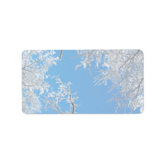 Snowy Winter Scene Label