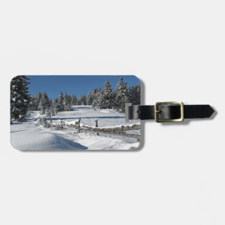 Snowy Winter Scene Bag Tags