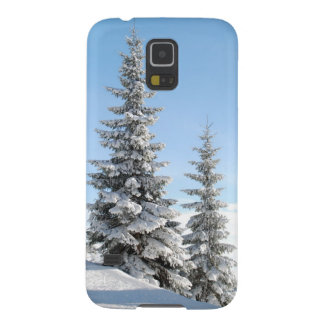 Snowy Winter Scene with Christmas Trees Galaxy S5 Case