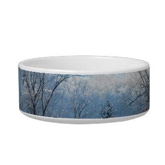 Snowy Winter Tree Lake Reflections Bowl