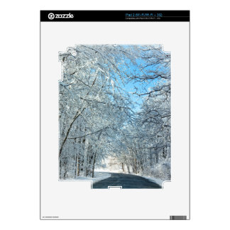 Snowy Winter Trees Decals For iPad 2