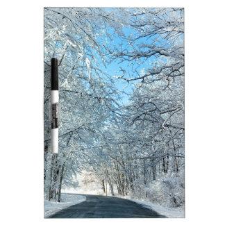Snowy Winter Trees Dry-Erase Board