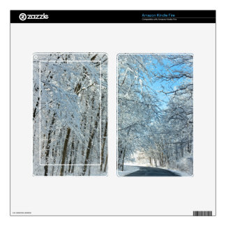 Snowy Winter Trees Kindle Fire Decals