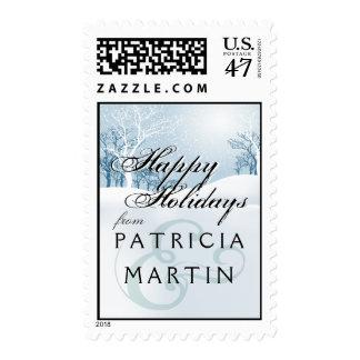 Snowy Winter Wedding - ice blue Stamp