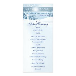 Snowy Winter Wedding Program ice blue Card