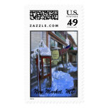 Snowy Wintery Scene,  New Market General Store ... Stamps