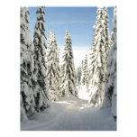 Snowy Wonderland Customized Letterhead