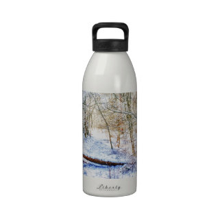 Snowy Woodland Path Reusable Water Bottles