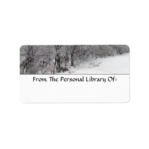 Snowy Woods Bookplate Labels