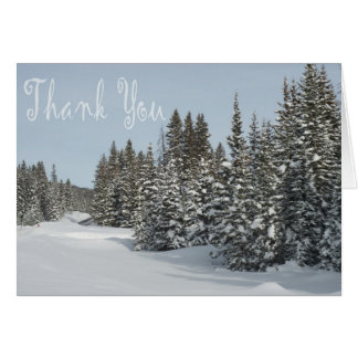 Snowy Woods Holiday Thank you Card