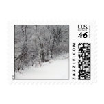 Snowy Woods Small Postage Stamps