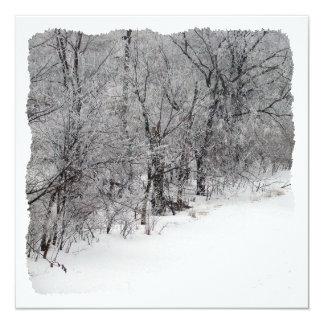 Snowy Woods Square Invitation