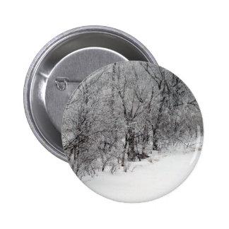 Snowy Woods Standard Round Button