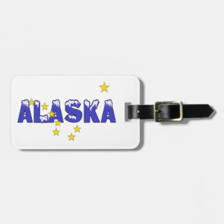 SNOWY WORD ALASKA BAG TAG