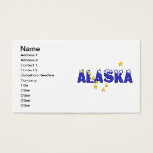 North star business cards templates zazzle snowy word alaska business card reheart Choice Image