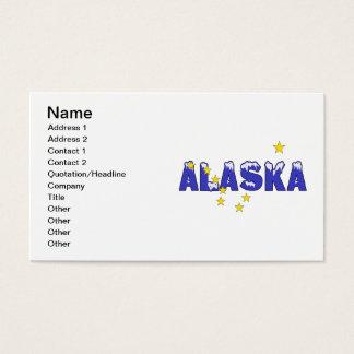SNOWY WORD ALASKA BUSINESS CARD