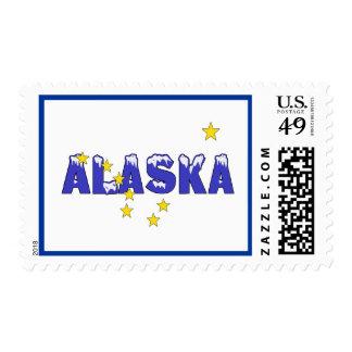 SNOWY WORD ALASKA POSTAGE STAMP
