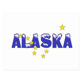 SNOWY WORD ALASKA POSTCARD