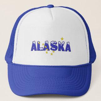 SNOWY WORD ALASKA TRUCKER HAT