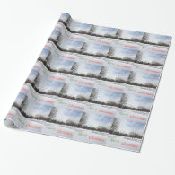 Snowy world white  Christmas holiday Gift Wrapping Paper