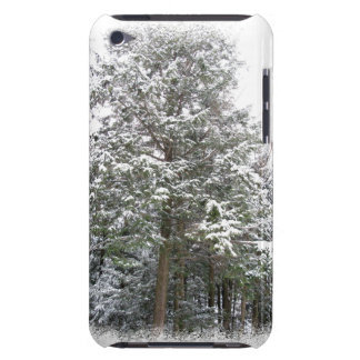 Snowy Xmas Trees in a Winter Wonderland Forest Barely There iPod Case