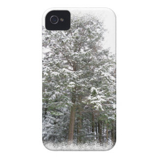 Snowy Xmas Trees in a Winter Wonderland Forest Case-Mate iPhone 4 Case