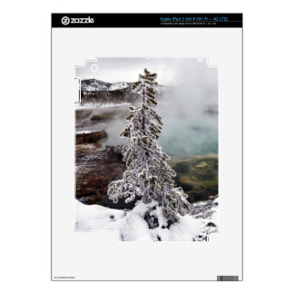 Snowy Yellowstone Decals For iPad 3