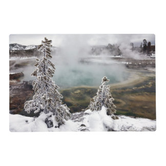 Snowy Yellowstone Placemat