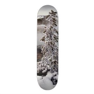Snowy Yellowstone Skateboard Deck