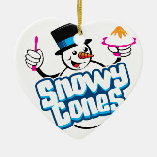 Snowycones merchandise ceramic ornament