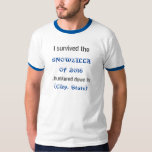 SNOWZILLA de la camiseta de 2016 personalizados