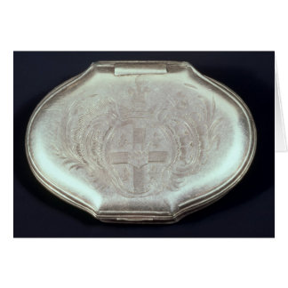 Snuff box embossed with a coat of arms, c.1820 card