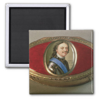 Snuff box with portrait miniature of Peter Magnet