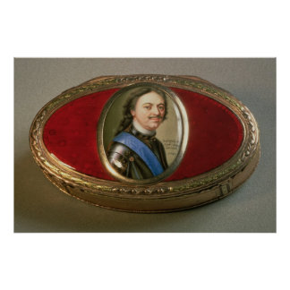 Snuff box with portrait miniature of Peter Poster