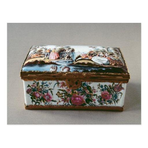 Snuffbox, c.1750 postcard