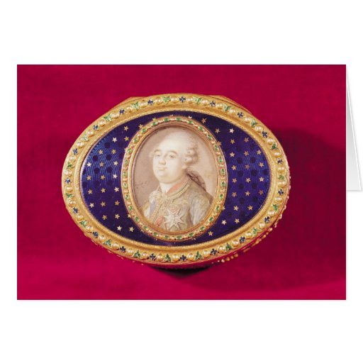 Snuffbox with a portrait miniature of Louis Card