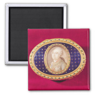 Snuffbox with a portrait miniature of Louis Magnet