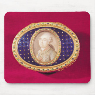 Snuffbox with a portrait miniature of Louis Mouse Pad