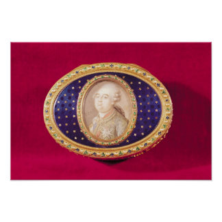 Snuffbox with a portrait miniature of Louis Print