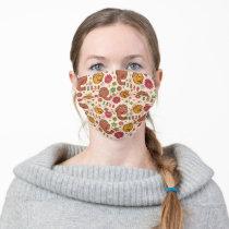 Snuffleupagus and Big Bird Groovy Flower Pattern Adult Cloth Face Mask