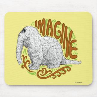 Snuffleupagus B&W Sketch Drawing Mouse Pad