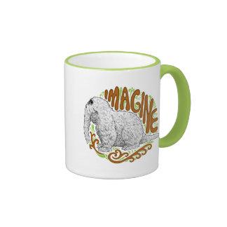 Snuffleupagus B&W Sketch Drawing Ringer Coffee Mug