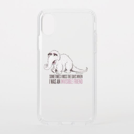 Snuffleupagus | Sometimes I Miss the Days Speck iPhone X Case