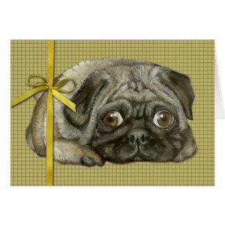 Snug pug card