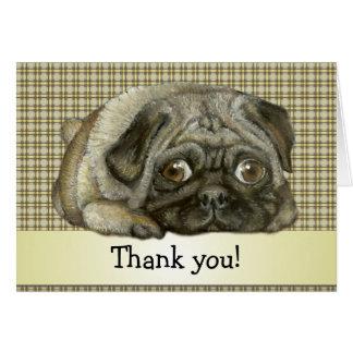 Snug pug greeting card